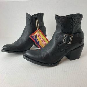 Durango City Philly Shorty Boots Black Leather